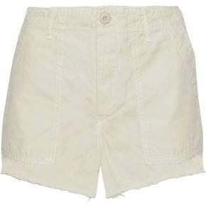 Amo Army Frayed Cotton-Canvas Shorts