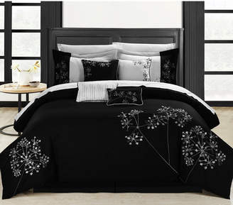 Chic Home Pink Floral 12-Pc Queen Comforter Set Bedding