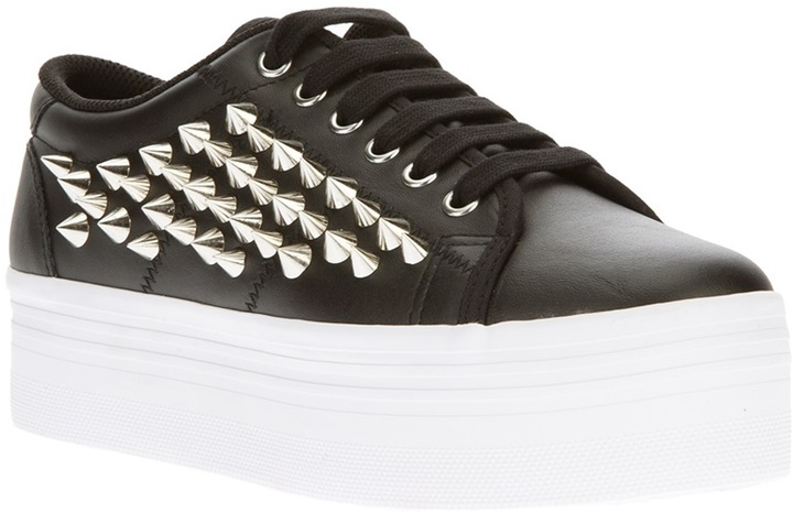 Jeffrey Campbell 'Zomg' wedge studded trainer