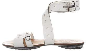 Tod's Cutout Ankle Strap Sandals