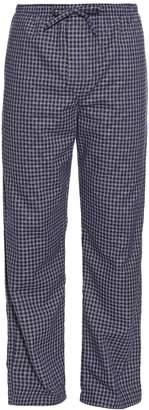 Derek Rose Checked brushed-cotton pyjama trousers