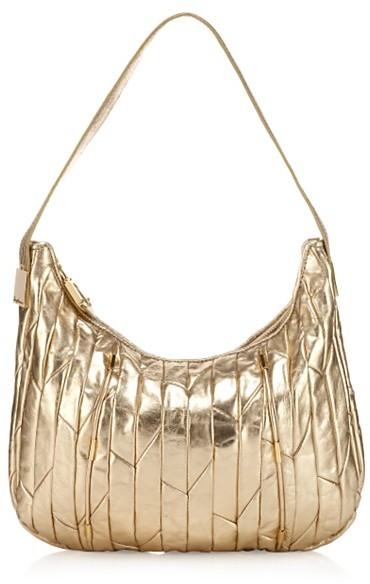 Juicy Couture Metallic Houndstooth Peony Bag