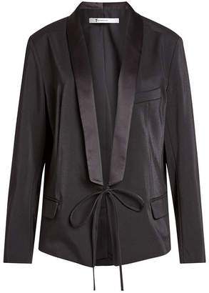 Alexander Wang Satin Jacket with Self-Tie Front