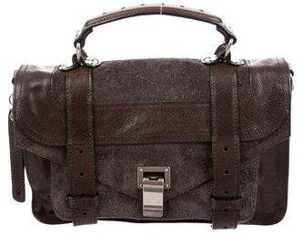 Proenza Schouler Suede & Leather Tiny PS1 Satchel