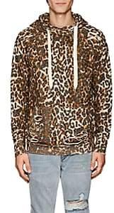 NSF Men's Distressed Leopard-Print Cotton Hoodie