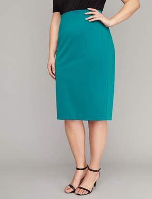 Lane Bryant Scuba Midi Pencil Skirt