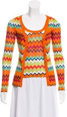 Missoni M Chevron Knit Cardigan Set
