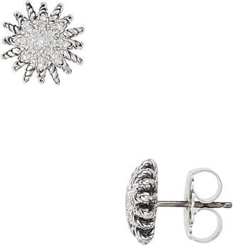 David Yurman Heritage  Starburst 14K 0.26 Ct. Tw. Diamond Stud Earrings