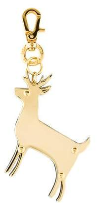 Stella McCartney Metal Reindeer Keychain