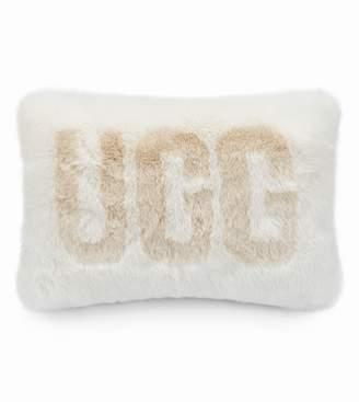 UGG Logo Royale Faux Fur Accent Pillow