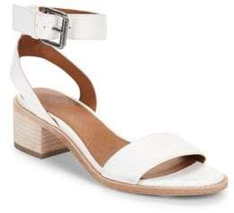 Frye Cindy Leather Ankle Strap Sandals
