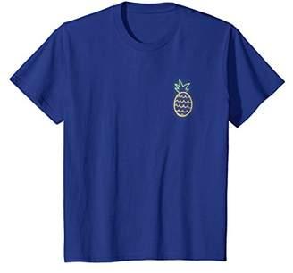 80s Retro Neon Sign Pineapple Pocket T-Shirt 80's Shirt Gift