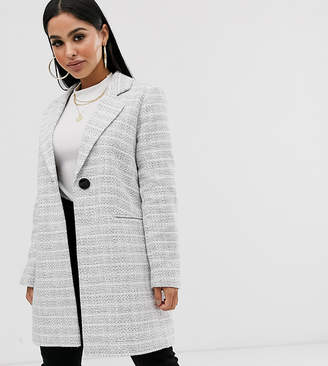 Asos DESIGN Petite textured coat with button detail