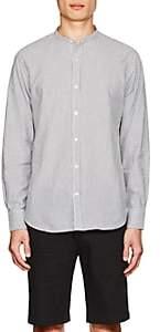 Officine Generale Men's Striped Cotton Seersucker Shirt - White