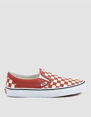 Vans Classic Slip-On Sneaker In Hot Sauce Check