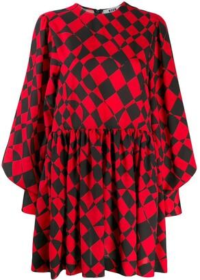 MSGM geometric print day dress