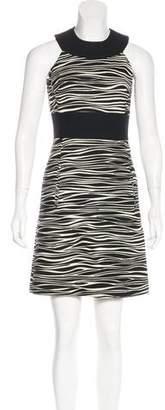 Michael Kors Wool Zebra Pattern Dress