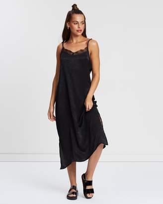 Cotton On Woven Audrey Lace Midi Slip Dress