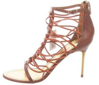 Emilio Pucci Leather Cage Sandals