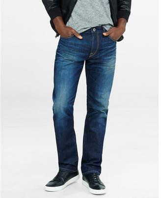 Express Classic Straight Medium Wash Jeans $79.90 thestylecure.com