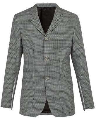 Raf Simons - Zip Cuff Wool Blazer - Mens - Grey