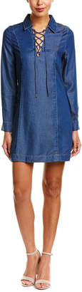 7 For All Mankind Seven 7 Lace-Up Shift Dress