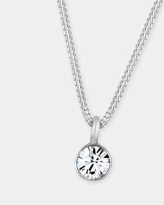 Swarovski Necklace 925 Sterling Silver Crystal Solitaire