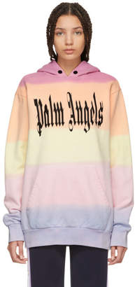 Palm Angels Multicolor Gothic Rainbow Hoodie