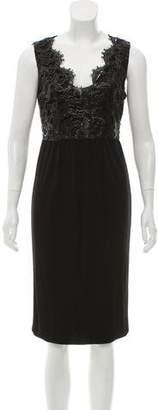Gucci Lace-Accented Midi Dress w/ Tags