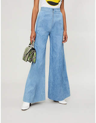MiH Jeans x Bay Garnett Golborne Road Vintage high-rise flared jeans