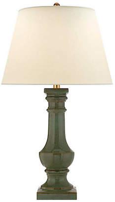 Visual Comfort & Co. Balustrade Round Table Lamp - Oslo Green