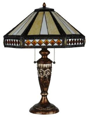 "Tiffany & Co. Meyda Diamond Mission 26.5"" Table Lamp Meyda"