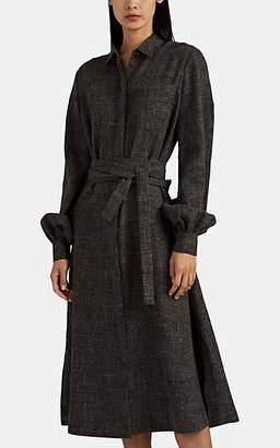 Co Women's Belted Wool-Blend Shirtdress - Brown