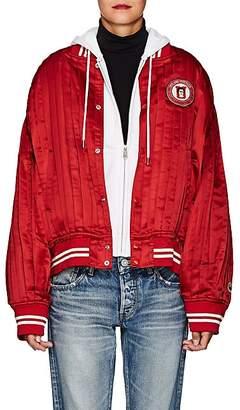 Undercover Women's Patch-Appliquéd Silk Satin Varsity Jacket - Red