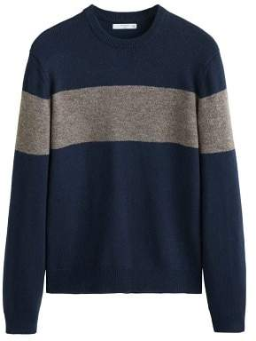 Mango Man MANGO MAN Contrast panel sweater