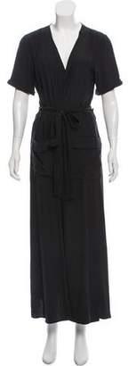 Frame Silk Wrap Dress