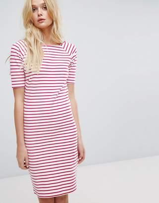 Tommy Jeans Tommy Hilfiger Denim Stripe Boatneck Dress