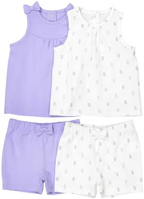 La Redoute Collections Pack of 2 Shorts + T-Shirt Sets, 1 Month–3 Years
