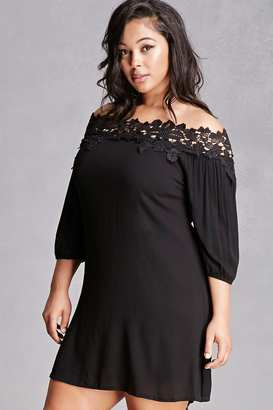 FOREVER 21+ Plus Size Crochet Mini Dress $38 thestylecure.com