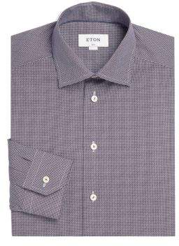 Eton Slim-Fit Printed Dress Shirt