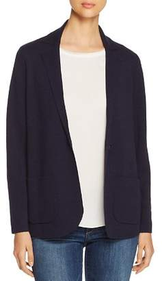 Eileen Fisher Petites Wool Blazer-Style Cardigan