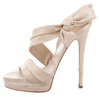 Casadei Leather Slingback Sandals $200 thestylecure.com