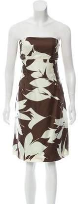 J. Mendel Strapless Silk Dress
