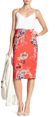 ECI Floral Patterned Midi Skirt