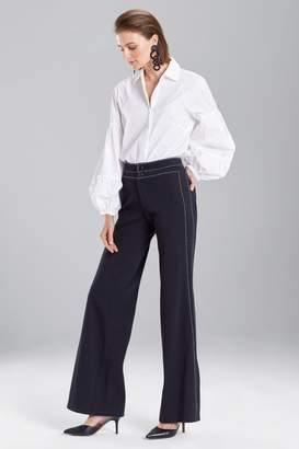 Josie Natori Denim Side Slit Pants