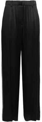 Brunello Cucinelli Bead-embellished Sateen Wide-leg Pants