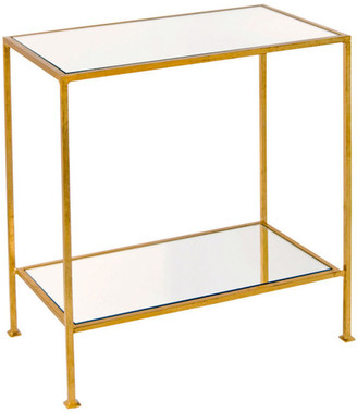 Worlds Away 2-Tier Rectangular Side Table