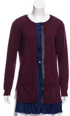 Yigal Azrouel Silk-Trimmed Wool Cardigan