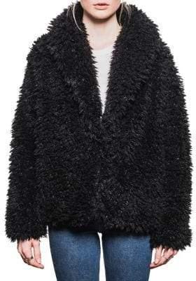 Line Emile Faux Fur Coat