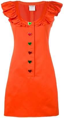 Saint Laurent PRE-OWNED sleeveless ruffled dress